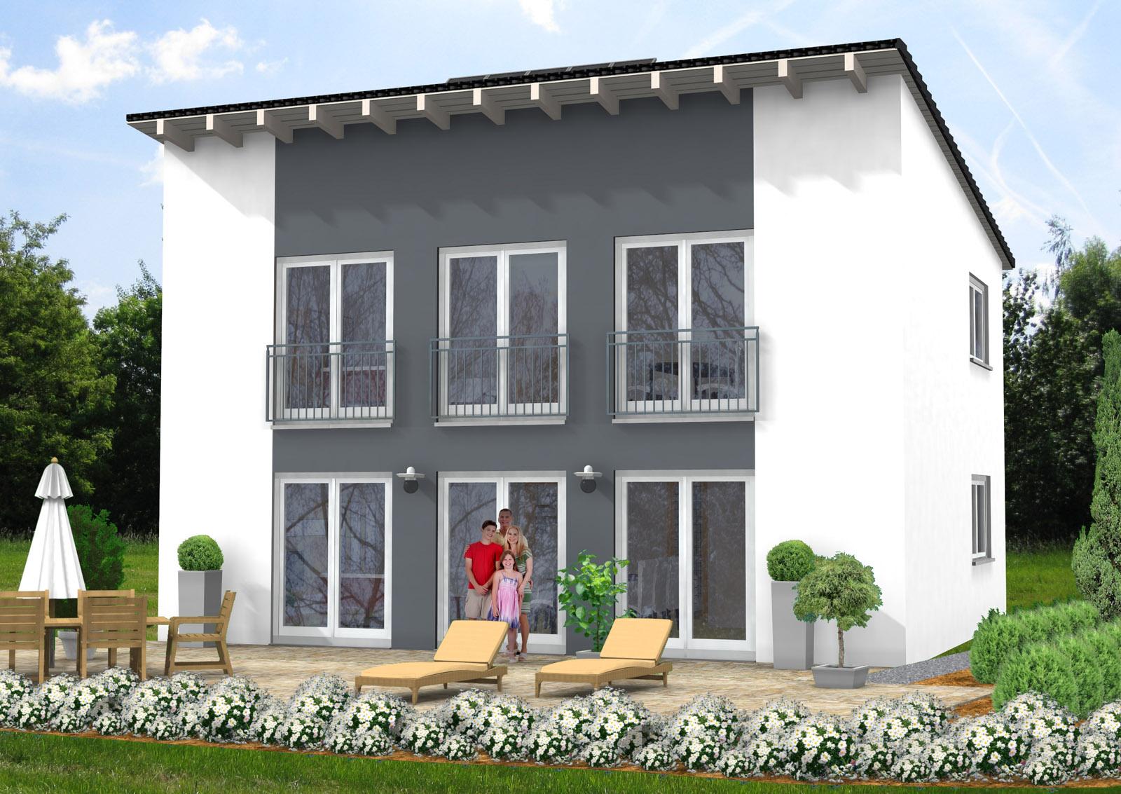 bauberatung baubetreuung baufinanzierung bauplanung pultdachhaus 122 m. Black Bedroom Furniture Sets. Home Design Ideas