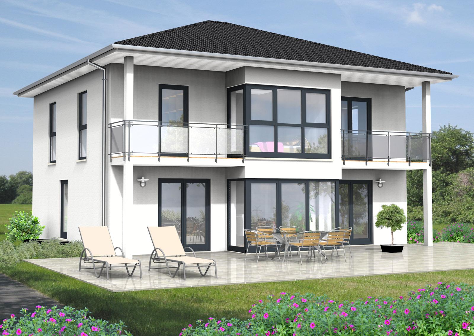 bauberatung baubetreuung baufinanzierung bauplanung stadtvilla 170 m. Black Bedroom Furniture Sets. Home Design Ideas